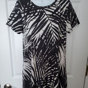 Lularoe Tropical Black & White Jessie Sz XS